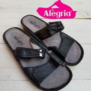 Alegria leather velcro sandals
